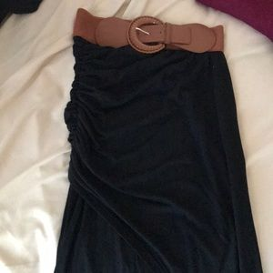 Cute comfy maxi skirt with slit